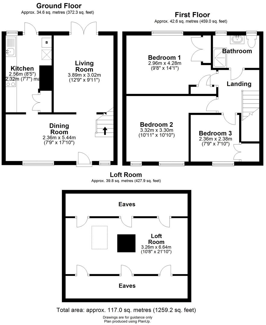 Floor plan Kings Hedges Road, Cambridge
